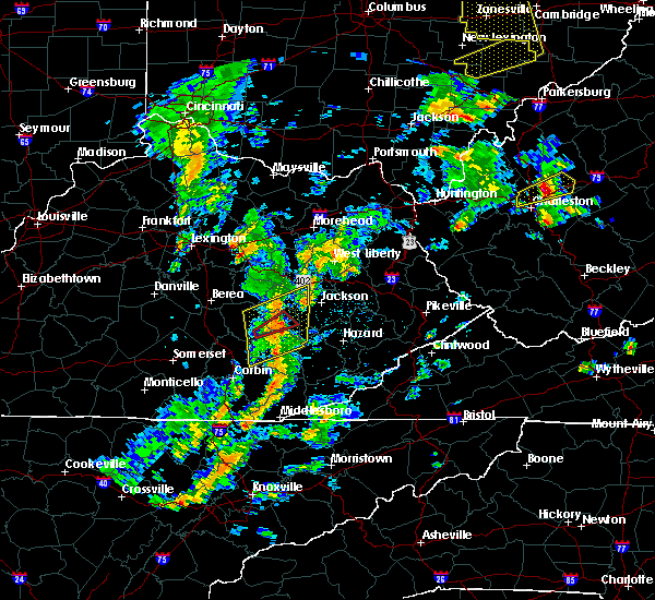 Radar Image for Severe Thunderstorms near Booneville, KY at 6/24/2019 4:36 PM EDT