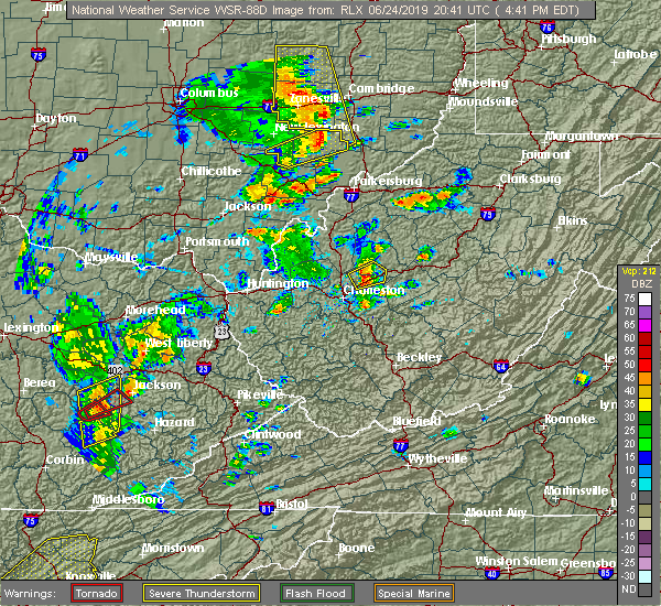 Radar Image for Severe Thunderstorms near McConnelsville, OH at 6/24/2019 4:45 PM EDT