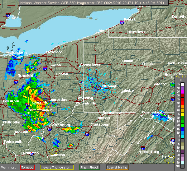 Radar Image for Severe Thunderstorms near Plainfield, OH at 6/24/2019 4:49 PM EDT