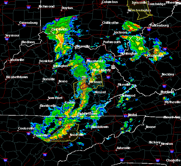 Radar Image for Severe Thunderstorms near Jackson, KY at 6/24/2019 4:52 PM EDT