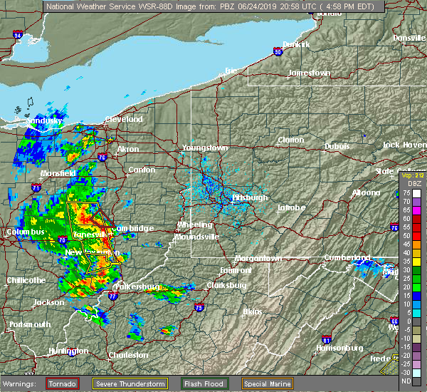 Radar Image for Severe Thunderstorms near Plainfield, OH at 6/24/2019 5:02 PM EDT
