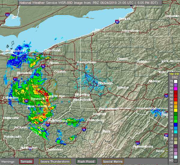 Radar Image for Severe Thunderstorms near Plainfield, OH at 6/24/2019 5:08 PM EDT