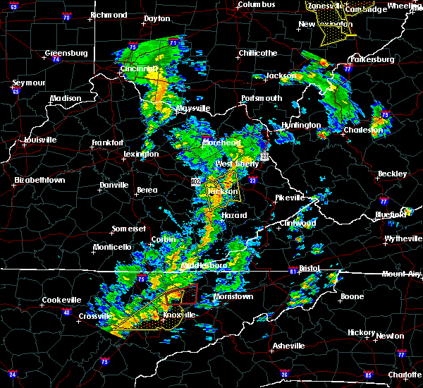 Radar Image for Severe Thunderstorms near Jackson, KY at 6/24/2019 5:10 PM EDT