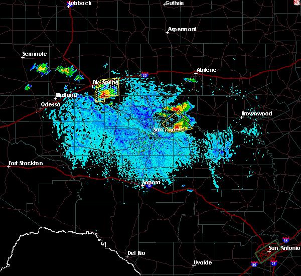 Radar Image for Severe Thunderstorms near Ballinger, TX at 6/24/2019 4:28 PM CDT