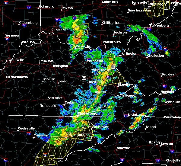 Radar Image for Severe Thunderstorms near Kermit, WV at 6/24/2019 5:36 PM EDT