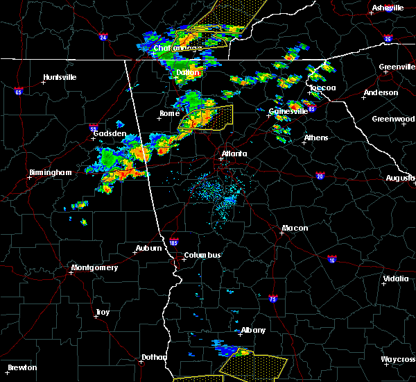 Radar Image for Severe Thunderstorms near Canton, GA at 6/24/2019 5:38 PM EDT