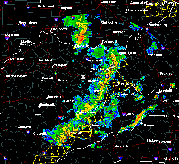 Radar Image for Severe Thunderstorms near Warfield, KY at 6/24/2019 5:47 PM EDT