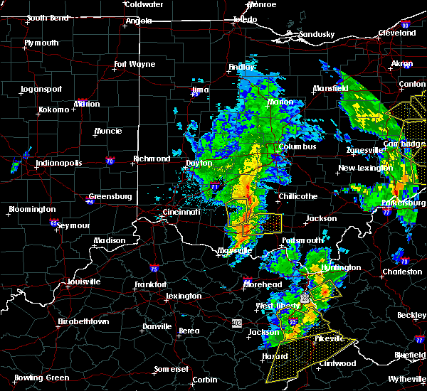 Radar Image for Severe Thunderstorms near Leesburg, OH at 6/24/2019 5:56 PM EDT