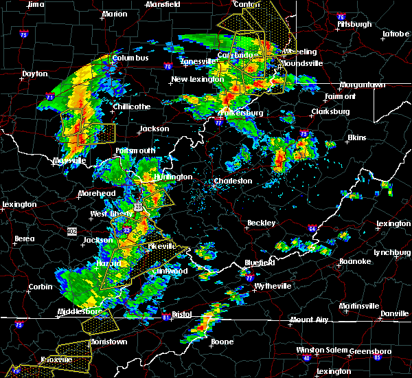 Radar Image for Severe Thunderstorms near Warfield, KY at 6/24/2019 5:58 PM EDT