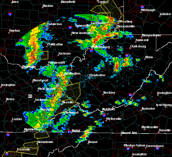 Radar Image for Severe Thunderstorms near Kermit, WV at 6/24/2019 5:58 PM EDT