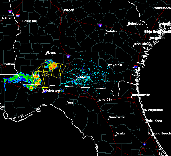 Radar Image for Severe Thunderstorms near Moultrie, GA at 6/24/2019 6:05 PM EDT