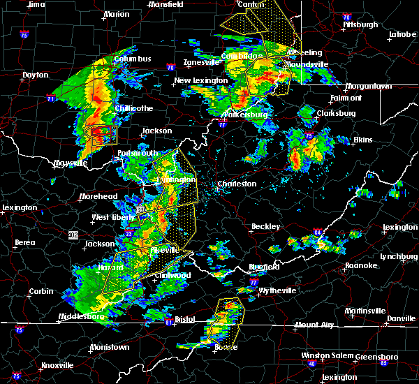 Radar Image for Severe Thunderstorms near Gallipolis, OH at 6/24/2019 6:16 PM EDT