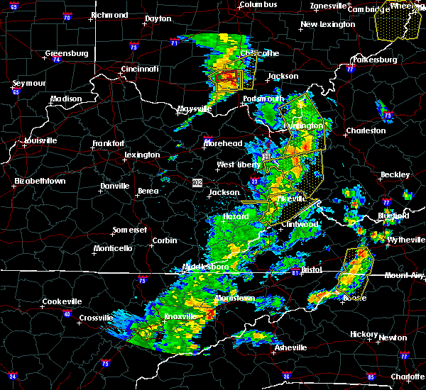Radar Image for Severe Thunderstorms near Pikeville, KY at 6/24/2019 6:21 PM EDT