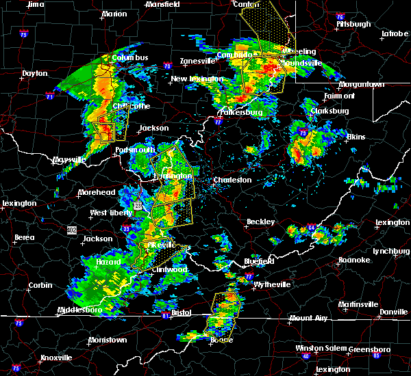 Radar Image for Severe Thunderstorms near Warfield, KY at 6/24/2019 6:23 PM EDT