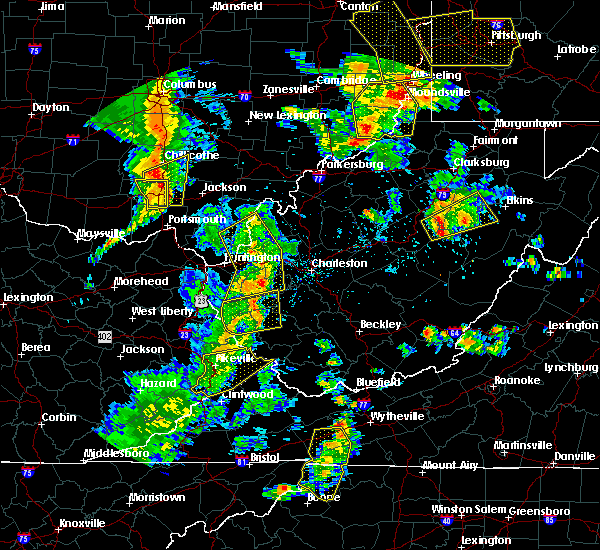 Radar Image for Severe Thunderstorms near Athalia, OH at 6/24/2019 6:32 PM EDT