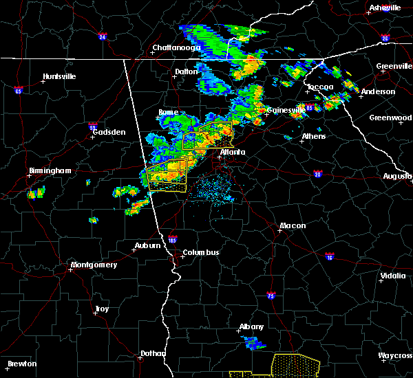 Radar Image for Severe Thunderstorms near Chattahoochee Hills, GA at 6/24/2019 6:38 PM EDT