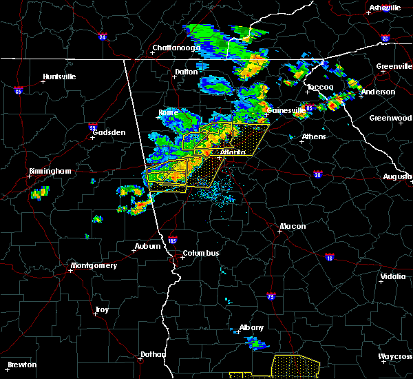 Radar Image for Severe Thunderstorms near Chattahoochee Hills, GA at 6/24/2019 6:43 PM EDT