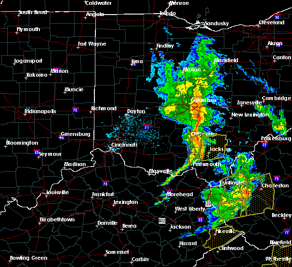 Radar Image for Severe Thunderstorms near Chillicothe, OH at 6/24/2019 6:43 PM EDT