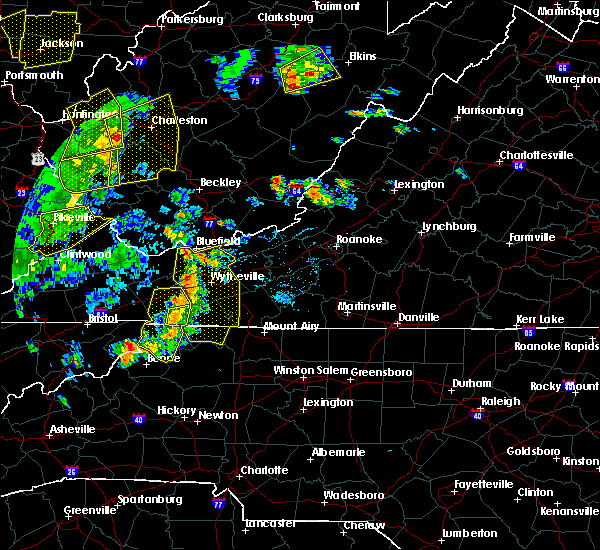 Radar Image for Severe Thunderstorms near Galax, VA at 6/24/2019 6:43 PM EDT