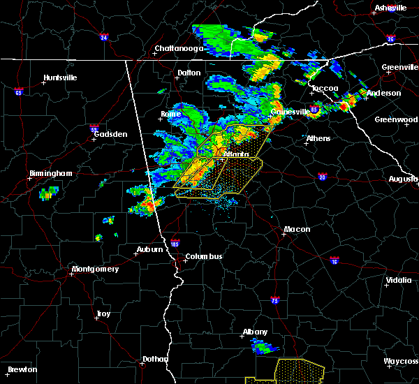 Radar Image for Severe Thunderstorms near Chattahoochee Hills, GA at 6/24/2019 6:54 PM EDT