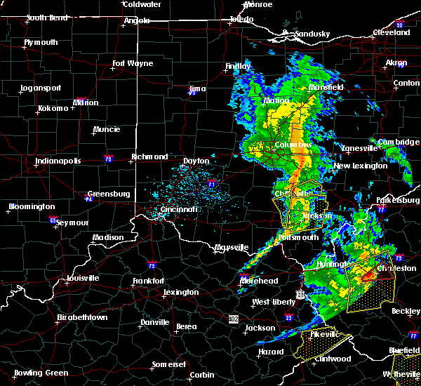 Radar Image for Severe Thunderstorms near Logan, OH at 6/24/2019 7:00 PM EDT