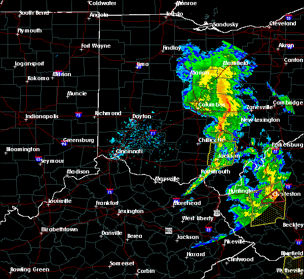 Radar Image for Severe Thunderstorms near Logan, OH at 6/24/2019 7:14 PM EDT