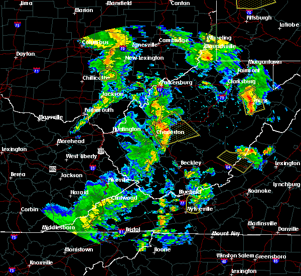 Radar Image for Severe Thunderstorms near East Bank, WV at 6/24/2019 7:23 PM EDT