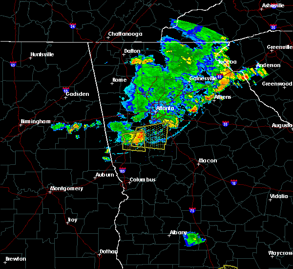Radar Image for Severe Thunderstorms near Peachtree City, GA at 6/24/2019 7:41 PM EDT