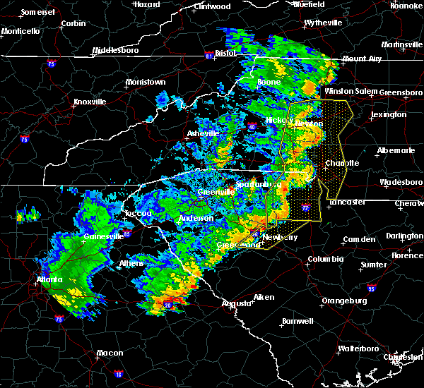 Radar Image for Severe Thunderstorms near Monroe, NC at 6/24/2019 9:19 PM EDT