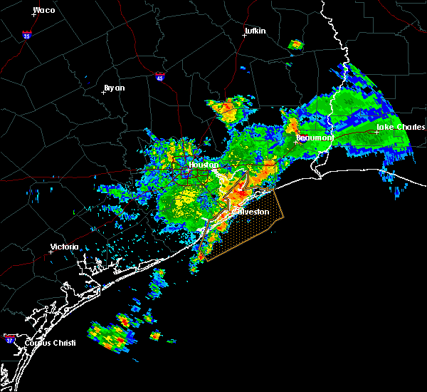 Radar Image for Severe Thunderstorms near Bolivar Peninsula, TX at 6/25/2019 8:25 AM CDT