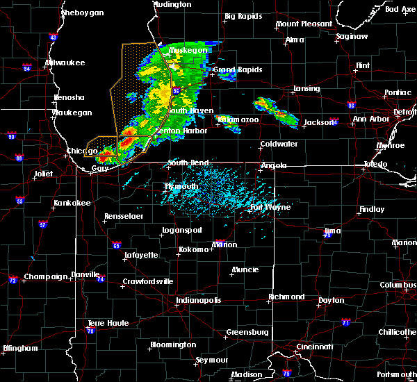 Radar Image for Severe Thunderstorms near Fair Plain, MI at 6/25/2019 6:37 PM EDT