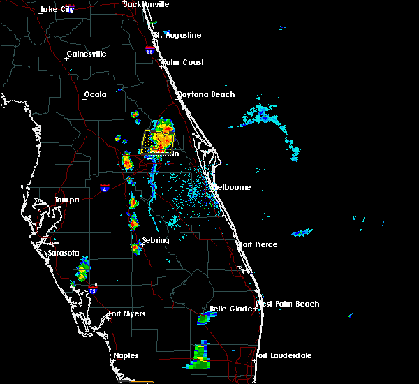 Radar Image for Severe Thunderstorms near Wekiwa Springs, FL at 6/25/2019 6:59 PM EDT