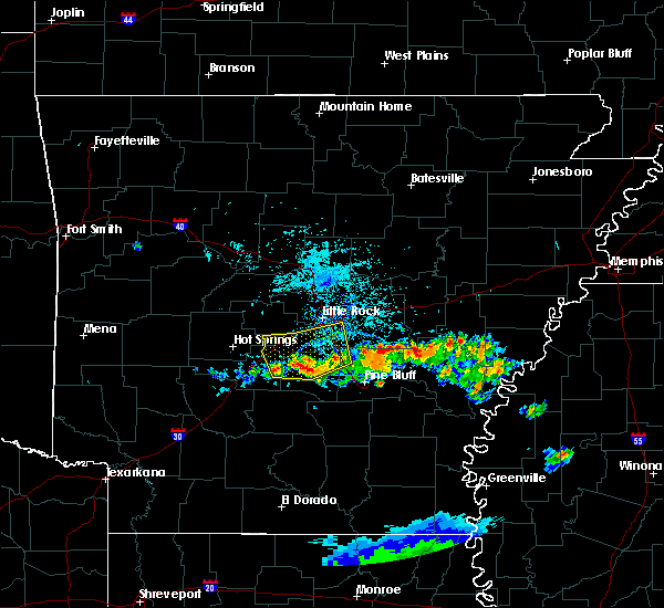 Radar Image for Severe Thunderstorms near Woodson, AR at 6/25/2019 6:02 PM CDT