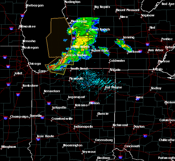 Radar Image for Severe Thunderstorms near Fair Plain, MI at 6/25/2019 7:03 PM EDT