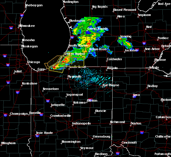 Radar Image for Severe Thunderstorms near Niles, MI at 6/25/2019 7:23 PM EDT