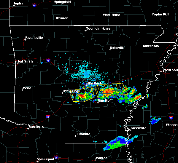 Radar Image for Severe Thunderstorms near Woodson, AR at 6/25/2019 6:24 PM CDT