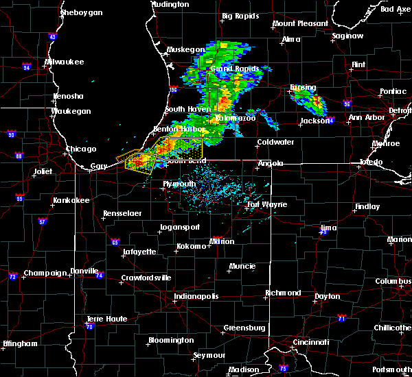 Radar Image for Severe Thunderstorms near Lakeville, IN at 6/25/2019 7:27 PM EDT