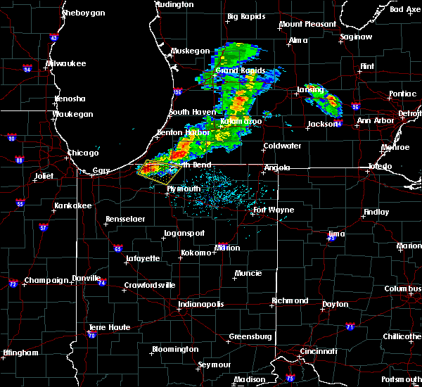 Radar Image for Severe Thunderstorms near Lakeville, IN at 6/25/2019 7:42 PM EDT