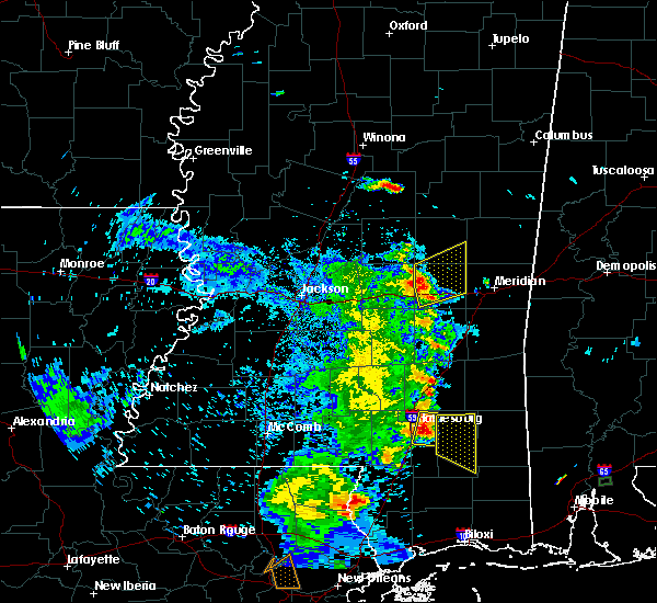 Radar Image for Severe Thunderstorms near Newton, MS at 6/25/2019 6:50 PM CDT