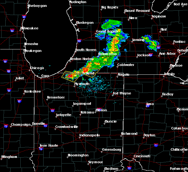 Radar Image for Severe Thunderstorms near Lakeville, IN at 6/25/2019 7:56 PM EDT