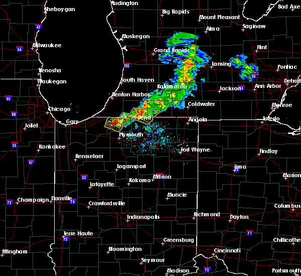 Radar Image for Severe Thunderstorms near White Pigeon, MI at 6/25/2019 8:02 PM EDT