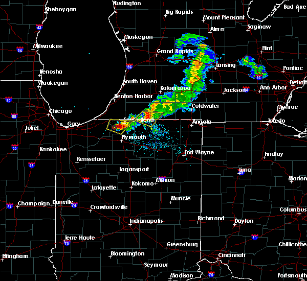 Radar Image for Severe Thunderstorms near Shipshewana, IN at 6/25/2019 8:10 PM EDT