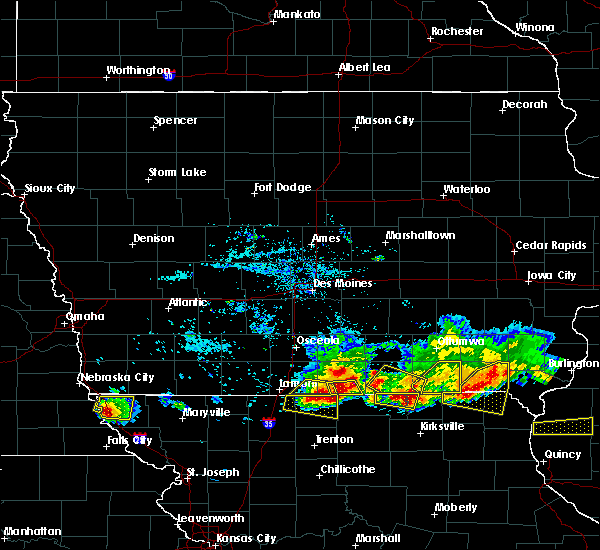 Radar Image for Severe Thunderstorms near Clio, IA at 6/25/2019 7:14 PM CDT