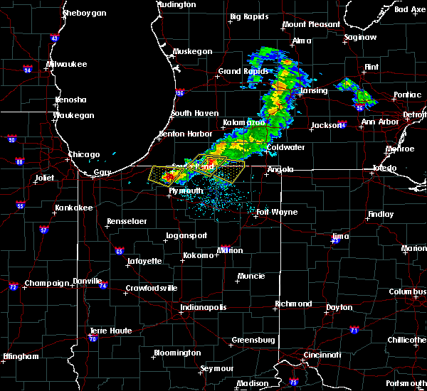 Radar Image for Severe Thunderstorms near Lakeville, IN at 6/25/2019 8:14 PM EDT