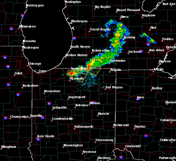 Radar Image for Severe Thunderstorms near Shipshewana, IN at 6/25/2019 8:24 PM EDT