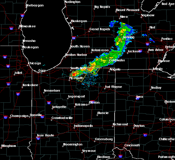 Radar Image for Severe Thunderstorms near Nappanee, IN at 6/25/2019 8:32 PM EDT