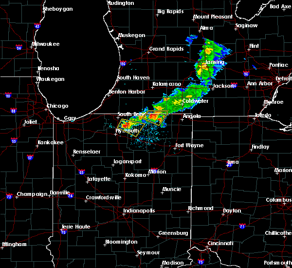Radar Image for Severe Thunderstorms near Shipshewana, IN at 6/25/2019 8:40 PM EDT