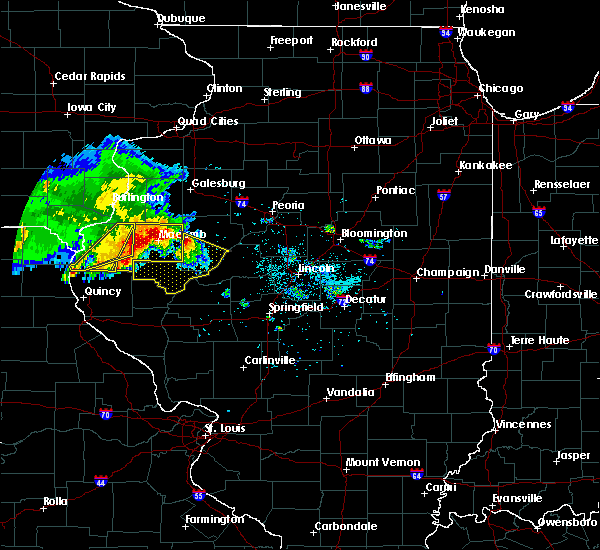 Radar Image for Severe Thunderstorms near West Point, IL at 6/25/2019 8:32 PM CDT