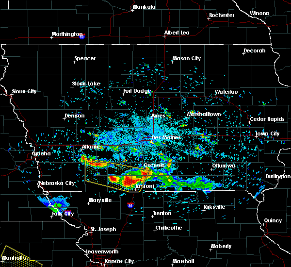 Radar Image for Severe Thunderstorms near Mount Ayr, IA at 6/25/2019 10:36 PM CDT