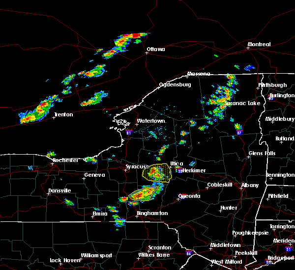 Radar Image for Severe Thunderstorms near Verona, NY at 6/26/2019 3:37 PM EDT